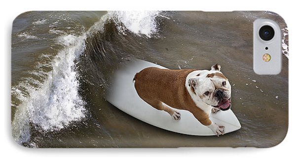 Surfer Dog IPhone Case by John A Rodriguez