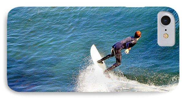 Surfer, Steamer Lane, Santa Cruz, Series 19 IPhone Case by Antonia Citrino