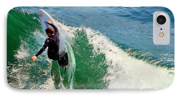 Surfer, Steamer Lane, Series 18 IPhone Case by Antonia Citrino