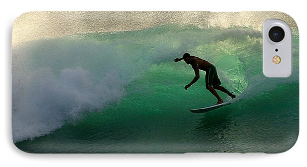 Surfer Surfing Blue Waves At Dumps Maui Hawaii Phone Case by Pierre Leclerc Photography