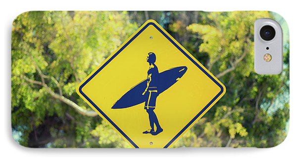 Surfer Xing 1 IPhone Case by Joseph S Giacalone