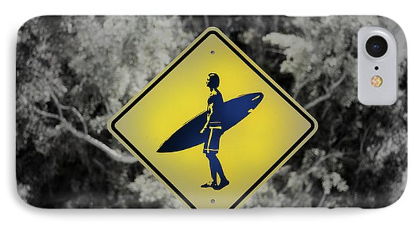 Surfer Xing IPhone Case by Joseph S Giacalone