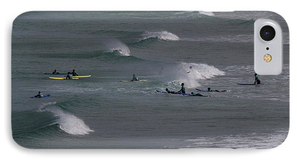 IPhone Case featuring the photograph Photographs Of Cornwall Surfers At Fistral by Brian Roscorla