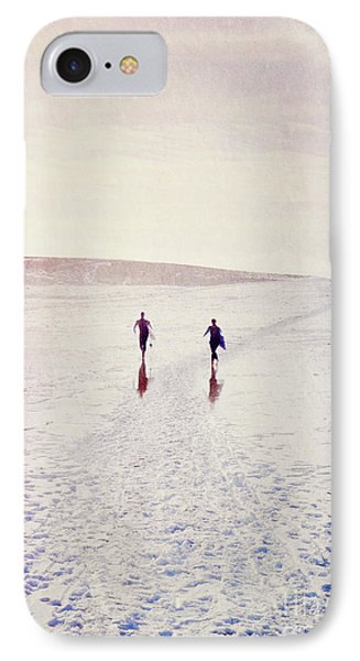 IPhone Case featuring the photograph Surfers In The Snow by Lyn Randle