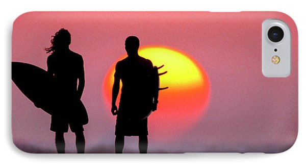 Surfers Sunset IPhone Case by Sean Davey