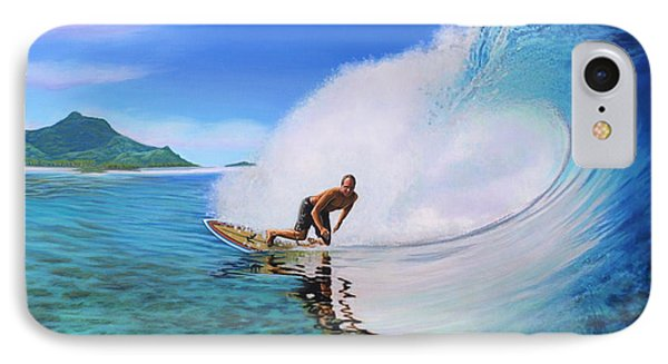 Surfing Dan IPhone Case by Jane Girardot