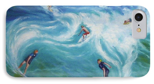 Surfing Phone Case by Diane Quee