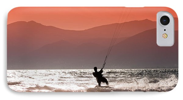 Surfing Into The Sunset Phone Case by Gabriela Insuratelu