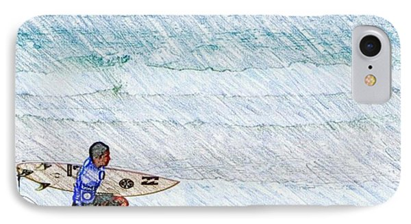 Surfer In Aus IPhone 7 Case by Daisuke Kondo