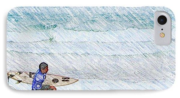 Surfer In Aus IPhone Case by Daisuke Kondo
