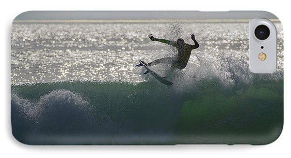 IPhone Case featuring the photograph Surfing The Light by Thierry Bouriat