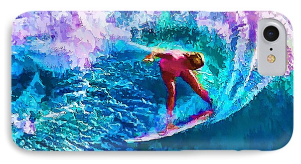 Surfs Like A Girl 1 IPhone Case by ABeautifulSky Photography