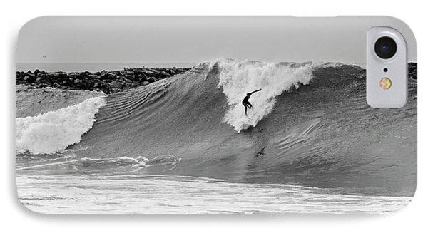 IPhone Case featuring the photograph Surf's Up Bw by Eddie Yerkish