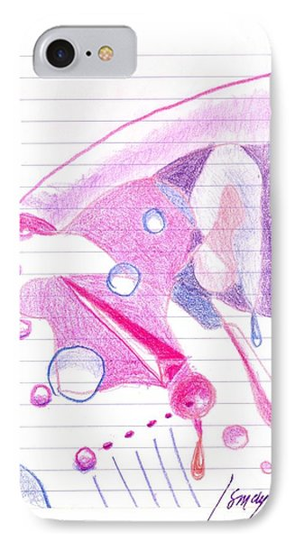 IPhone Case featuring the drawing Surgeries 2008 - Abstract by Rod Ismay