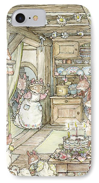Surprise At Mayblossom Cottage IPhone Case by Brambly Hedge