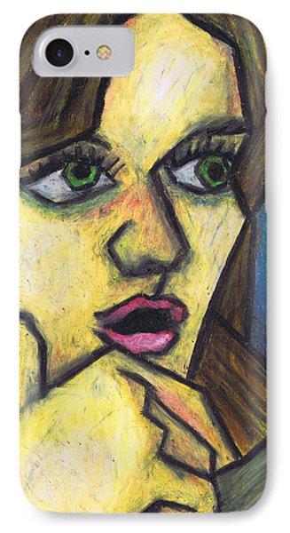 Surprised Girl Phone Case by Kamil Swiatek