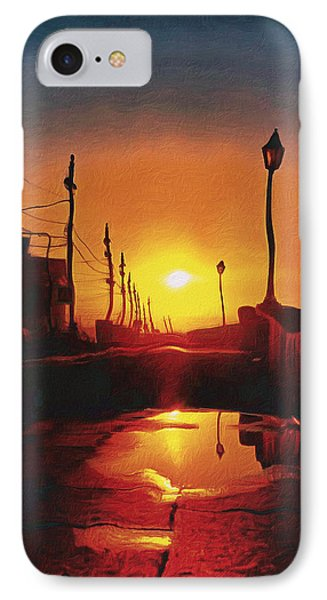 Surreal Cityscape Sunset IPhone Case by Anton Kalinichev