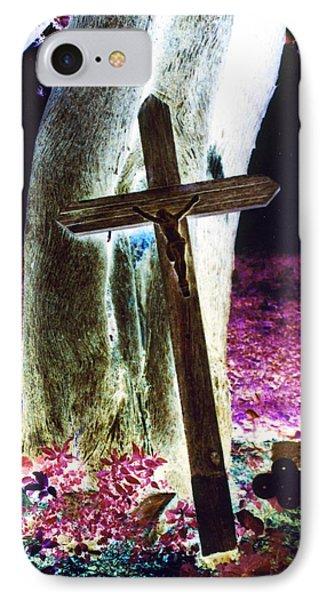 Surreal Crucifixion Phone Case by Karin Kohlmeier