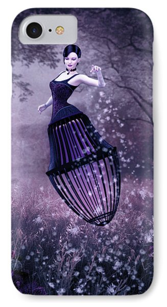 Surreal Fairy And Her Magic Seed  IPhone Case by Britta Glodde