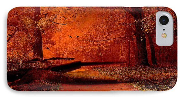 Surreal Fantasy Autumn Fall Orange Woods Nature Forest  IPhone Case