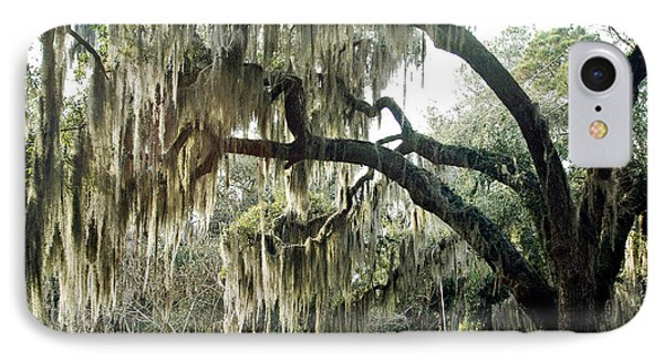 Surreal Gothic Savannah Georgia Trees With Hanging Spanish Moss IPhone Case by Kathy Fornal