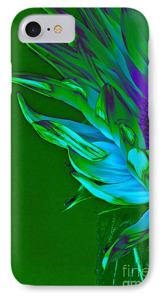 Surreal Sunflower  IPhone Case by Karen Lewis