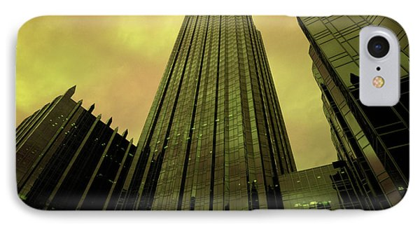 Surreal View Of Ppg Plaza Pittsburgh Phone Case by Amy Cicconi