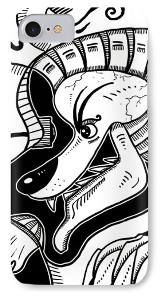 Surrealism Wolf IPhone Case
