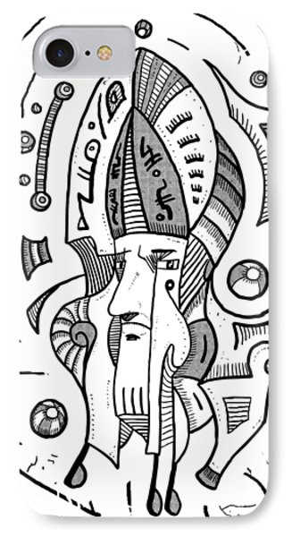 Surrealist Head IPhone Case by Sotuland Art