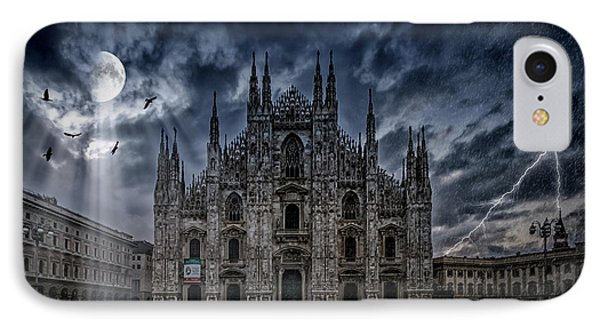 Surreality Art Milan Cathedral No 2 IPhone Case by Melanie Viola