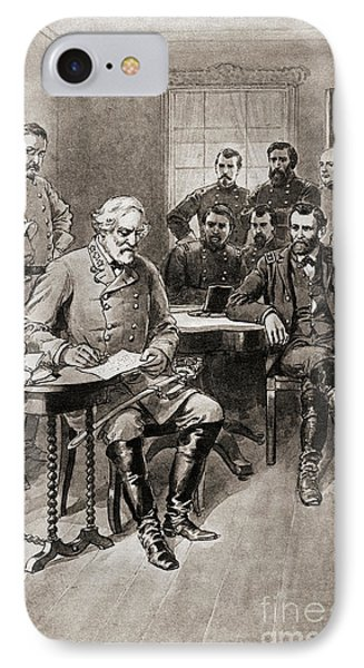Surrender Of Robert E Lee To General Ulysses S Grant, Appomattox Court House,virginia IPhone Case by American School