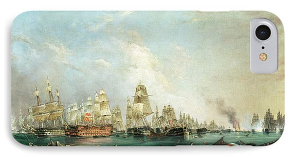 Surrender Of The Santissima Trinidad To Neptune The Battle Of Trafalgar IPhone Case