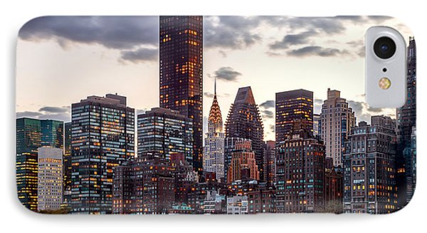 Chrysler Building iPhone 7 Case - Surrounded By The City by Az Jackson