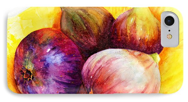 IPhone Case featuring the painting Susan's Figs by Bonnie Rinier