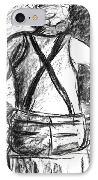 IPhone Case featuring the painting Suspenders by Cathie Richardson