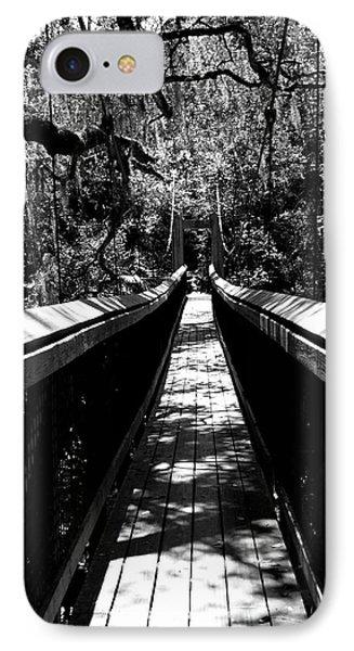 Suspension Bridge In Black And White IPhone Case