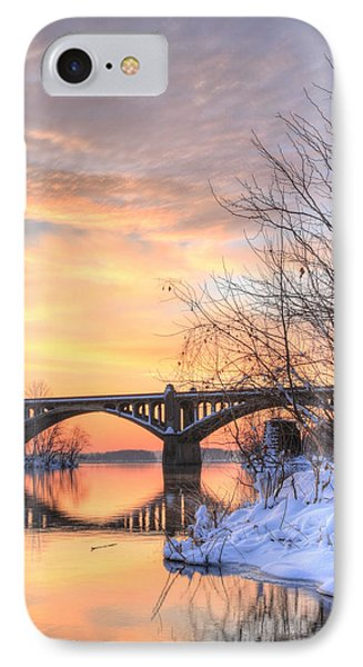 Susquehanna Sunrise Phone Case by JC Findley