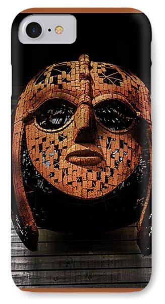 Sutton Hoo - Saxon Mask IPhone Case by Martin Newman