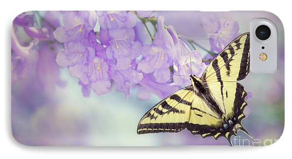 Swallowtail On Purple Flowers IPhone Case