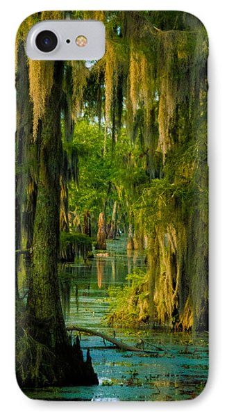 Swamp Curtains I IPhone Case by Kimo Fernandez