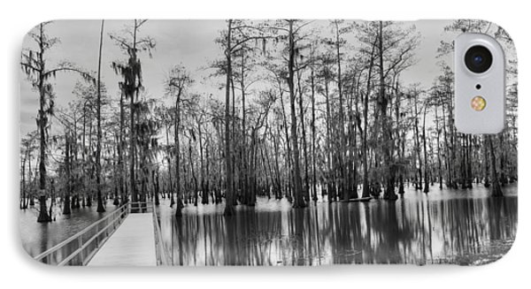 Swamp Dock Black And White IPhone Case by Ester  Rogers