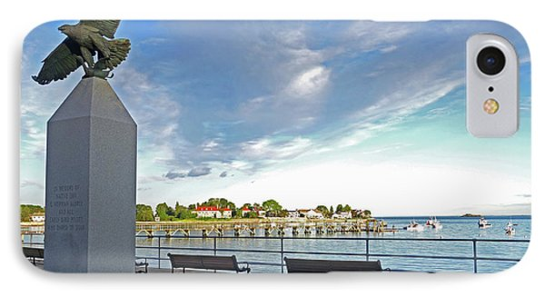 Swampscott Yacht Club Swampscott Ma Pier Eagle Statue IPhone Case by Toby McGuire