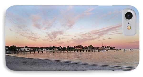 Swampscott Yacht Club Swampscott Ma Pier Red Sky IPhone Case by Toby McGuire