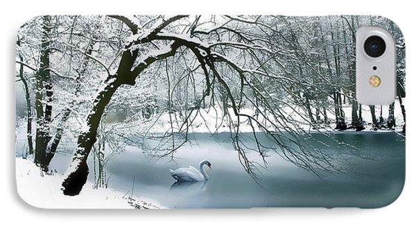 Swan A Swimming IPhone Case by Jessica Jenney