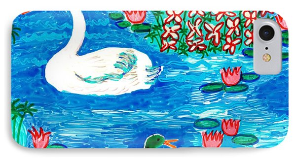 Swan And Duck IPhone Case