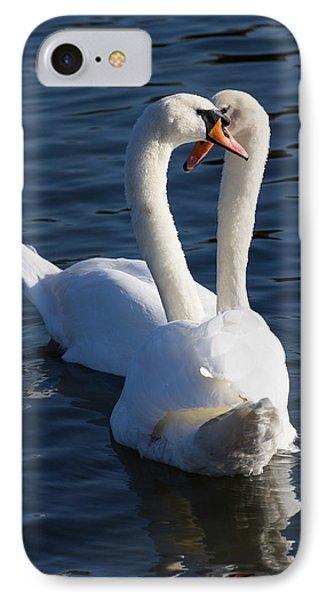 Swan Courtship  IPhone Case by David Pyatt