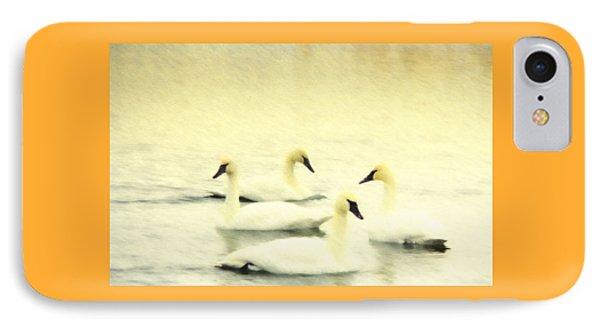 Swan Dance IPhone Case by Kathy Bassett