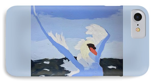 IPhone Case featuring the painting Swan by Donald J Ryker III