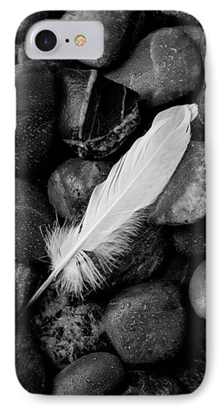 Swan Feather Black And White IPhone Case