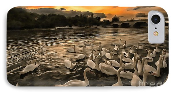 Swan Gloaming Kingston U K IPhone Case by Jack Torcello